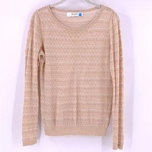 Sparrow Metallic Chevron Stripe Sweater Small